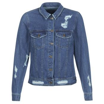 vaatteet Naiset Farkkutakki Only BECKY Blue