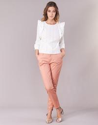 vaatteet Naiset Chino-housut / Porkkanahousut Only PARIS Pink