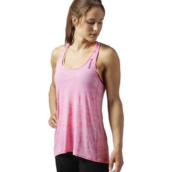 vaatteet Naiset Hihattomat paidat / Hihattomat t-paidat Reebok Sport OS BO Breeze Tank Vaaleanpunaiset