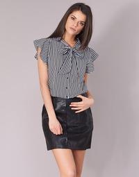 vaatteet Naiset Topit / Puserot Only ELENA Black / White