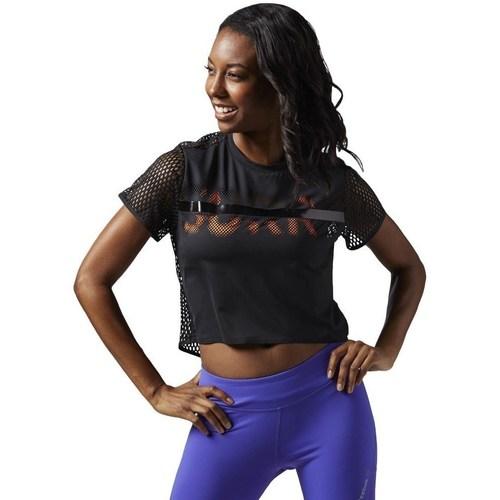 vaatteet Naiset Lyhythihainen t-paita Reebok Sport Cardio Tee Mustat