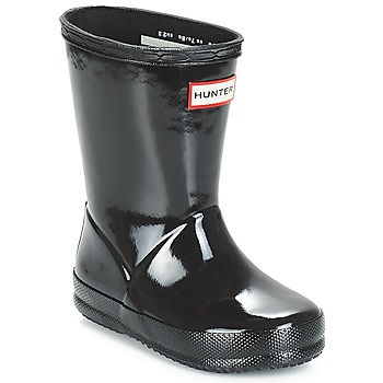 kengät Lapset Kumisaappaat Hunter KIDS FIRST CLASSIC GLOSS Black