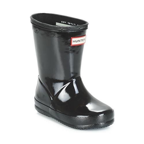 kengät Lapset Kumisaappaat Hunter KIDS FIRST CLASSIC GLOSS Black