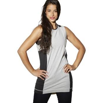 vaatteet Naiset Hihattomat paidat / Hihattomat t-paidat Reebok Sport DC Tee Dress Mustat,Harmaat