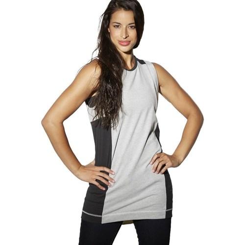 vaatteet Naiset Hihattomat paidat / Hihattomat t-paidat Reebok Sport DC Tee Dress Mustat, Harmaat