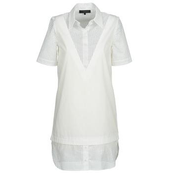 vaatteet Naiset Lyhyt mekko American Retro CHARLOTTE Valkoinen