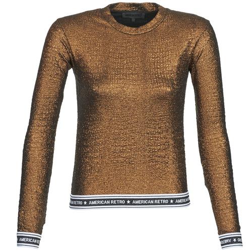 vaatteet Naiset T-paidat pitkillä hihoilla American Retro ALLAN Kulta