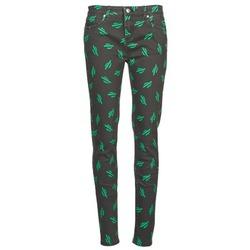 vaatteet Naiset Slim-farkut American Retro TINA Musta / Vihreä