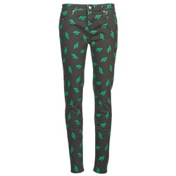 vaatteet Naiset Slim-farkut American Retro TINA Black / Green