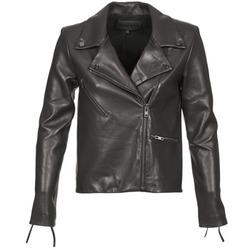 vaatteet Naiset Nahkatakit / Tekonahkatakit American Retro LEON JCKT Black
