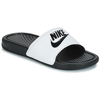 kengät Miehet Rantasandaalit Nike BENASSI JUST DO IT White / Black