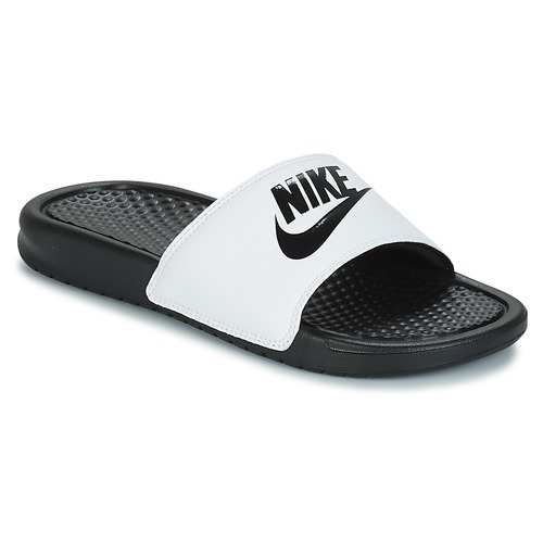 kengät Miehet Rantasandaalit Nike BENASSI JUST DO IT White / Black