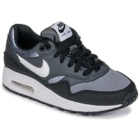 kengät Pojat Matalavartiset tennarit Nike AIR MAX 1 GRADE SCHOOL Black / Grey