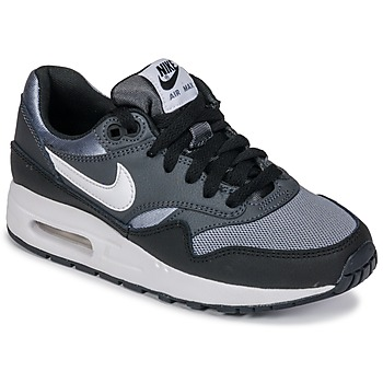 kengät Pojat Matalavartiset tennarit Nike AIR MAX 1 GRADE SCHOOL Black    Grey e4a97fe28f