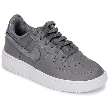 kengät Tytöt Matalavartiset tennarit Nike AIR FORCE 1 PRE-SCHOOL Grey / Hopea