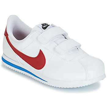 kengät Pojat Matalavartiset tennarit Nike CORTEZ BASIC PRE-SCHOOL White / Blue / Red