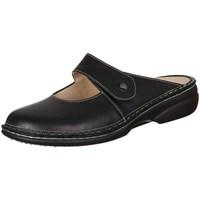 kengät Naiset Puukengät Finn Comfort Stanford Nappa Seda Mustat