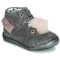 kengät Tytöt Korkeavartiset tennarit Catimini PEPITA Grey / Pink