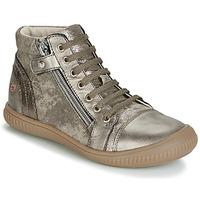 kengät Tytöt Korkeavartiset tennarit GBB RACHIDA Taupe / Bronze
