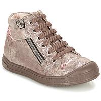 kengät Tytöt Korkeavartiset tennarit GBB DESTINY Taupe / Bronze