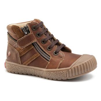 kengät Pojat Korkeavartiset tennarit GBB RAMBOUTAN Brown / Dpf / Linux