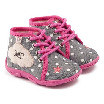 kengät Tytöt Tossut GBB BUBBLE Harmaa-vaaleanpunainen / Dtx