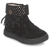 kengät Tytöt Bootsit Catimini PERETTE Black / Argenté