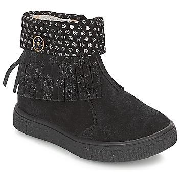 kengät Tytöt Bootsit Catimini PERETTE Black / Hopea