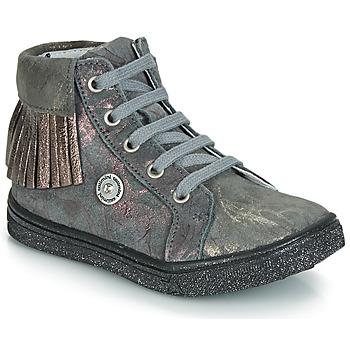 kengät Tytöt Korkeavartiset tennarit Catimini LOULOU Grey / Pink