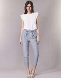 vaatteet Naiset 5-taskuiset housut Betty London IKARALE Blue / White