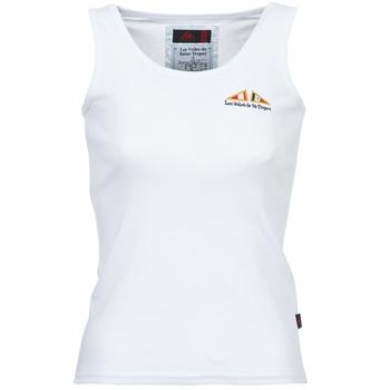 vaatteet Naiset Hihattomat paidat / Hihattomat t-paidat Les voiles de St Tropez BLENNIE White