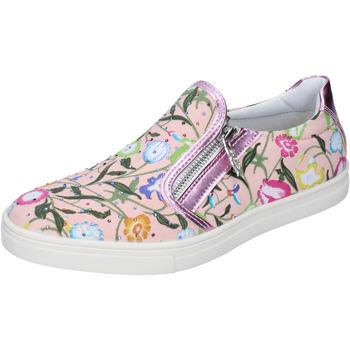 kengät Tytöt Tennarit Didiblu slip on rosa pelle tela strass AG479 Rosa