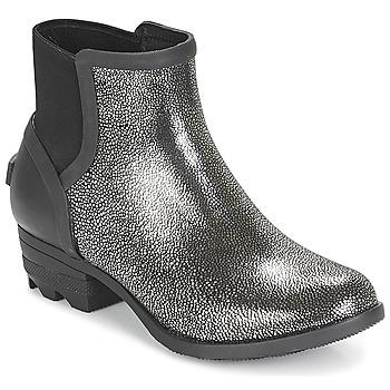 kengät Naiset Bootsit Sorel JANEY CHELSEA Black / Hopea