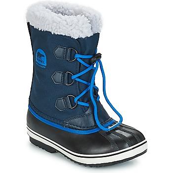 kengät Lapset Talvisaappaat Sorel YOOT PAC NYLON Laivastonsininen