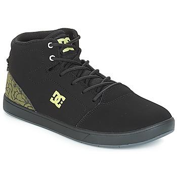kengät Lapset Korkeavartiset tennarit DC Shoes CRISIS HIGH SE B SHOE BK9 Musta / Vihreä