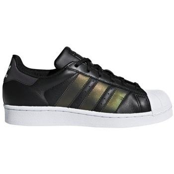 kengät Lapset Matalavartiset tennarit adidas Originals Superstar Mustat