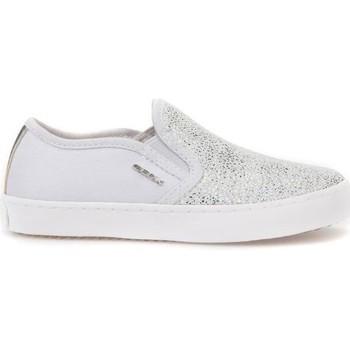 kengät Lapset Tennarit Geox JR Kilwi Girl Valkoiset,Hopeanväriset