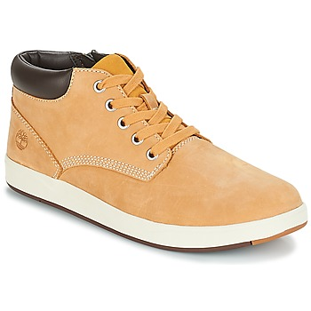 kengät Lapset Bootsit Timberland Davis Square Leather Chk Yellow