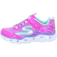 kengät Tytöt Matalavartiset tennarit Skechers Galaxy Lights Kinder Vaaleanpunaiset