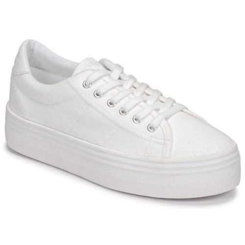 kengät Naiset Matalavartiset tennarit No Name PLATO SNEAKER White