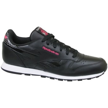 kengät Lapset Matalavartiset tennarit Reebok Sport CL Leather Girl Squad Mustat