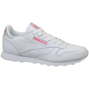 kengät Lapset Matalavartiset tennarit Reebok Sport CL Leather Girl Squad Valkoiset