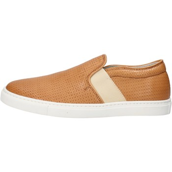 kengät Naiset Tennarit K852 & Son slip on cuoio pelle AG953 Marrone