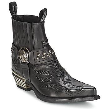 kengät Naiset Bootsit New Rock PRETO Black