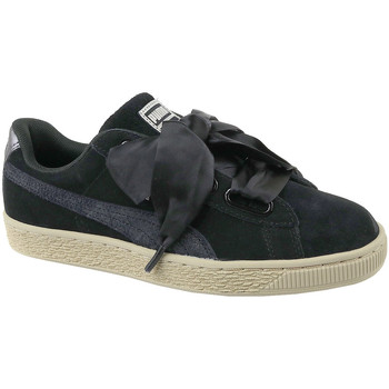 kengät Naiset Matalavartiset tennarit Puma Basket Heart Metallic Safari 364083-03