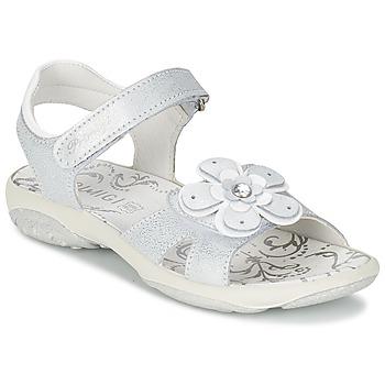 kengät Tytöt Sandaalit ja avokkaat Primigi LINA White / Argenté