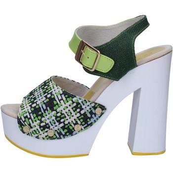 kengät Naiset Sandaalit ja avokkaat Suky Brand sandali verde tessuto vernice AC489 Verde