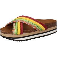kengät Naiset Rantasandaalit 5 Pro Ject sandali verde tessuto giallo AC589 Multicolore