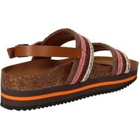 kengät Naiset Sandaalit ja avokkaat 5 Pro Ject sandali rosa tessuto marrone AC592 Rosa
