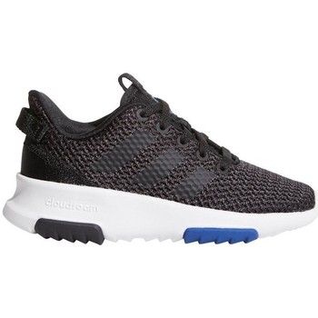 kengät Lapset Matalavartiset tennarit adidas Originals CF Racer TR K Valkoiset,Mustat